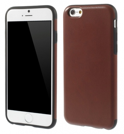 Kees Lederlook Gel Hoesje Apple iPhone 6 - Bruin