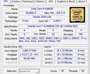 Core i9-9980XE cpuz