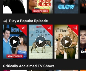 Netflix test optie om willekeurig afleveringen te kijken
