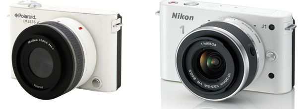 Polaroid iM1836 naast Nikon 1