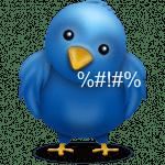 Twitter - scheldend vogeltje