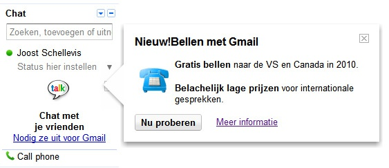 Gmail voip