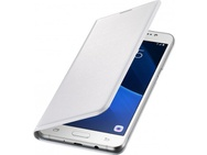 Goedkoopste Samsung Galaxy J5 (2016) Flip Wallet - White (Galaxy J5(2016)) Zwart