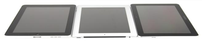 iPad en iPad 2 flankeren de Galaxy Tab 10.1