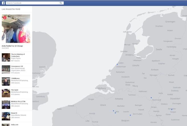 Facebook Live Map van Live Video's