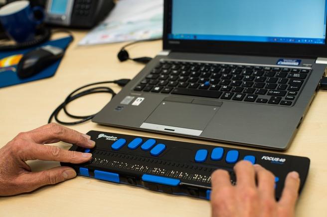 Tool voor blinde computergebruiker