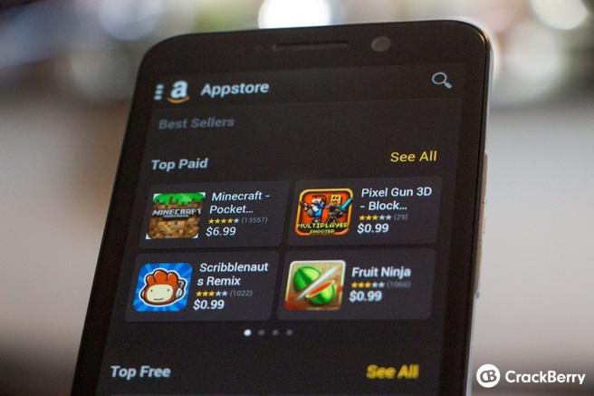 Amazon Appstore op BB10 (foto: Crackberry)