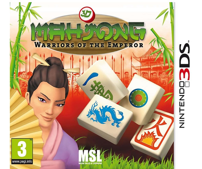 Mahjong 3D:  Warriors Of The Emperor, Nintendo 3DS (XL)