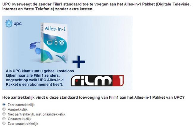 UPC Film1 enquete-vraag