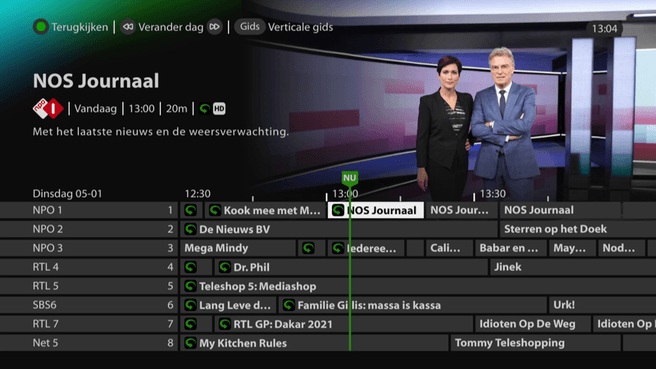 KPN TV-menu donkere modus
