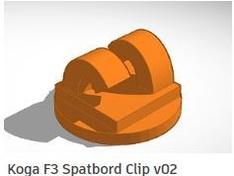 KOGA 3D ontwerp spatbord clip