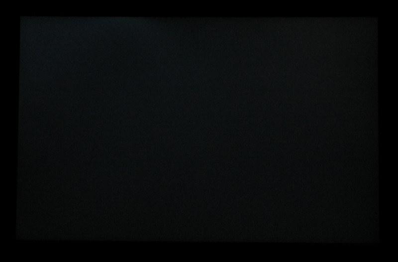 Backlight bleeding: foto van het scherm