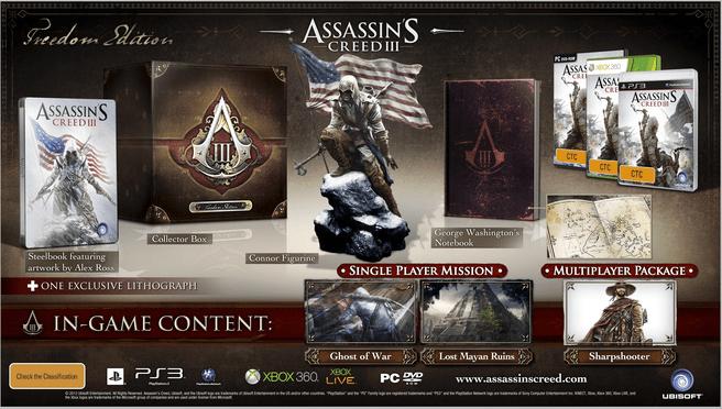 Assassin's Creed III (Freedom Edition), Xbox 360