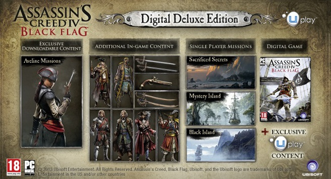 Assassin's Creed IV Black Flag Uplay Digital Deluxe Edition