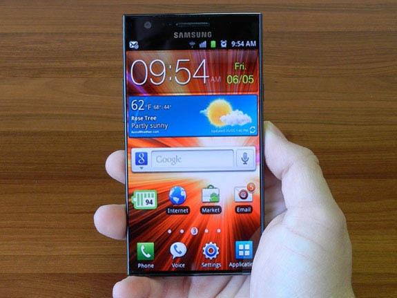 Mockup: Samsung-smartphone zonder rand