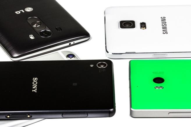 Smartphones verzameling wit