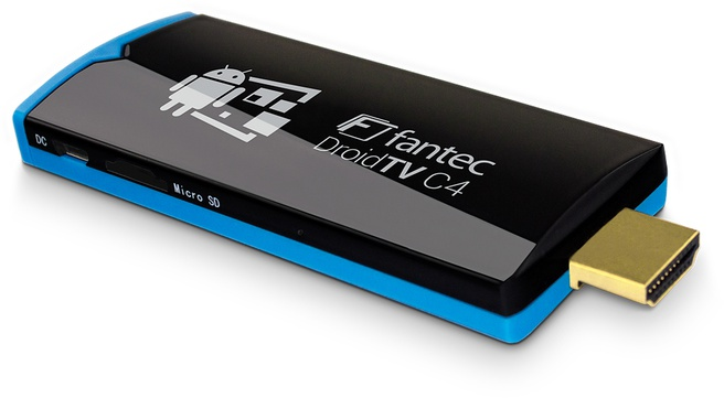Fantec Mediap. DroidTV C4 Quad Core Android TV Stick HDMI