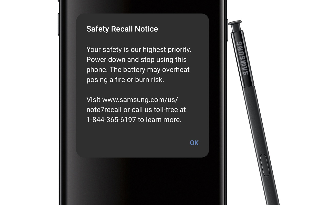 Note 7 update met batterij en notificatie
