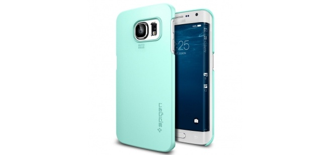 Spigen Thin Fit Samsung Galaxy S6 edge Case - SGP11411 - Mint
