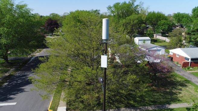 Mast met 5g Verizon in Indianapolis, VS