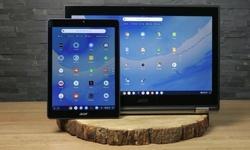Chrome OS met tabletmodus
