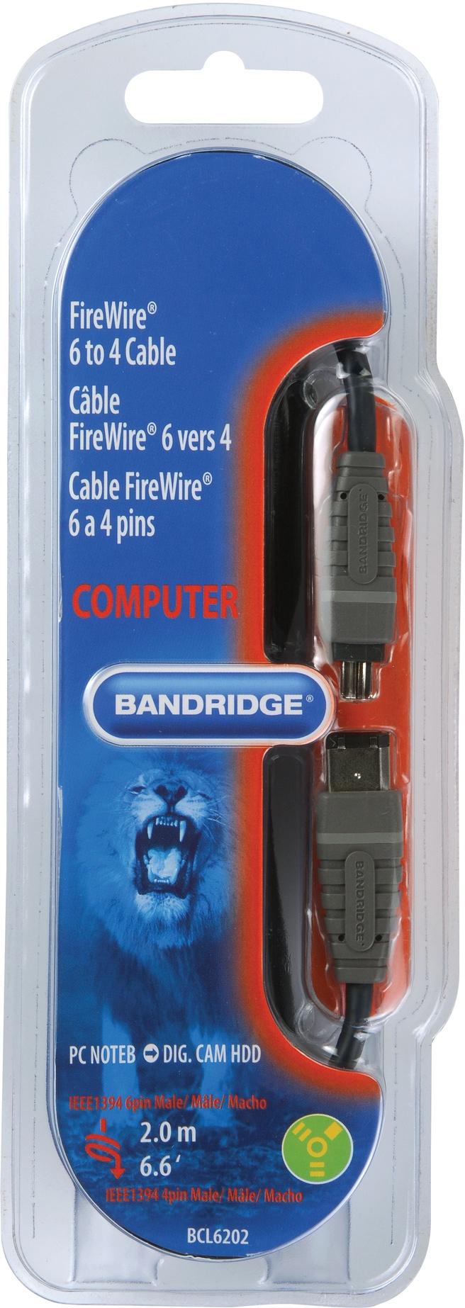 Bandridge 2m FireWire 400 Cable