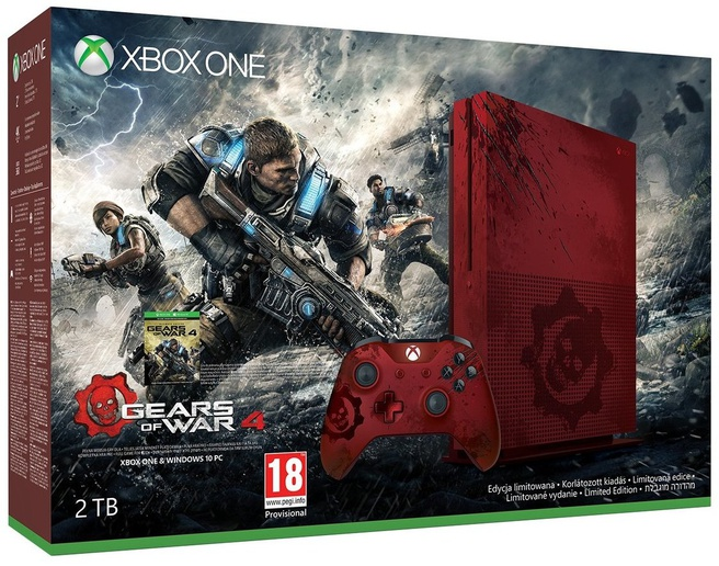 Microsoft Xbox One S 2TB Gears of War Limited Edition Wit
