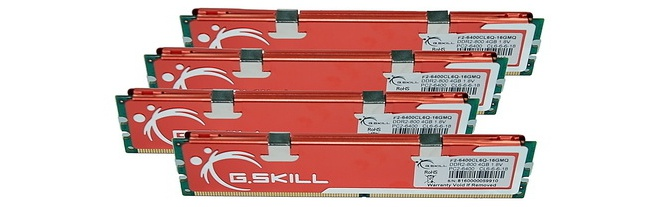 G.Skill 16GB (4x4096MB) DDR2 PC2 6400 CL6