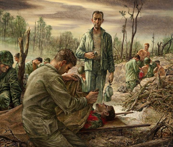 Oorlog schilderij