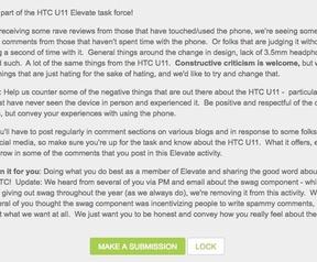 HTC U11: (Elevate, nieuwe versie)