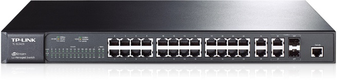 TP-Link 24-Port 10/100Mbps + 4-Port Gigabit L2 Managed Switch TL-SL3428