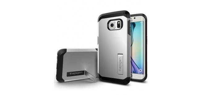 Spigen Tough Armor Samsung Galaxy S6 edge Case - SGP11432 - Satin Silver