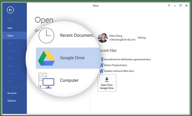 Drive-plugin voor Office