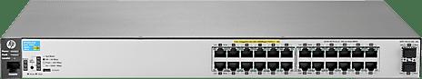 HP Procurve 2530-24G-PoE+-2SFP+ L2 Switch (24x 1000Base-T en 2 x 10GBase SFP+, 195W)