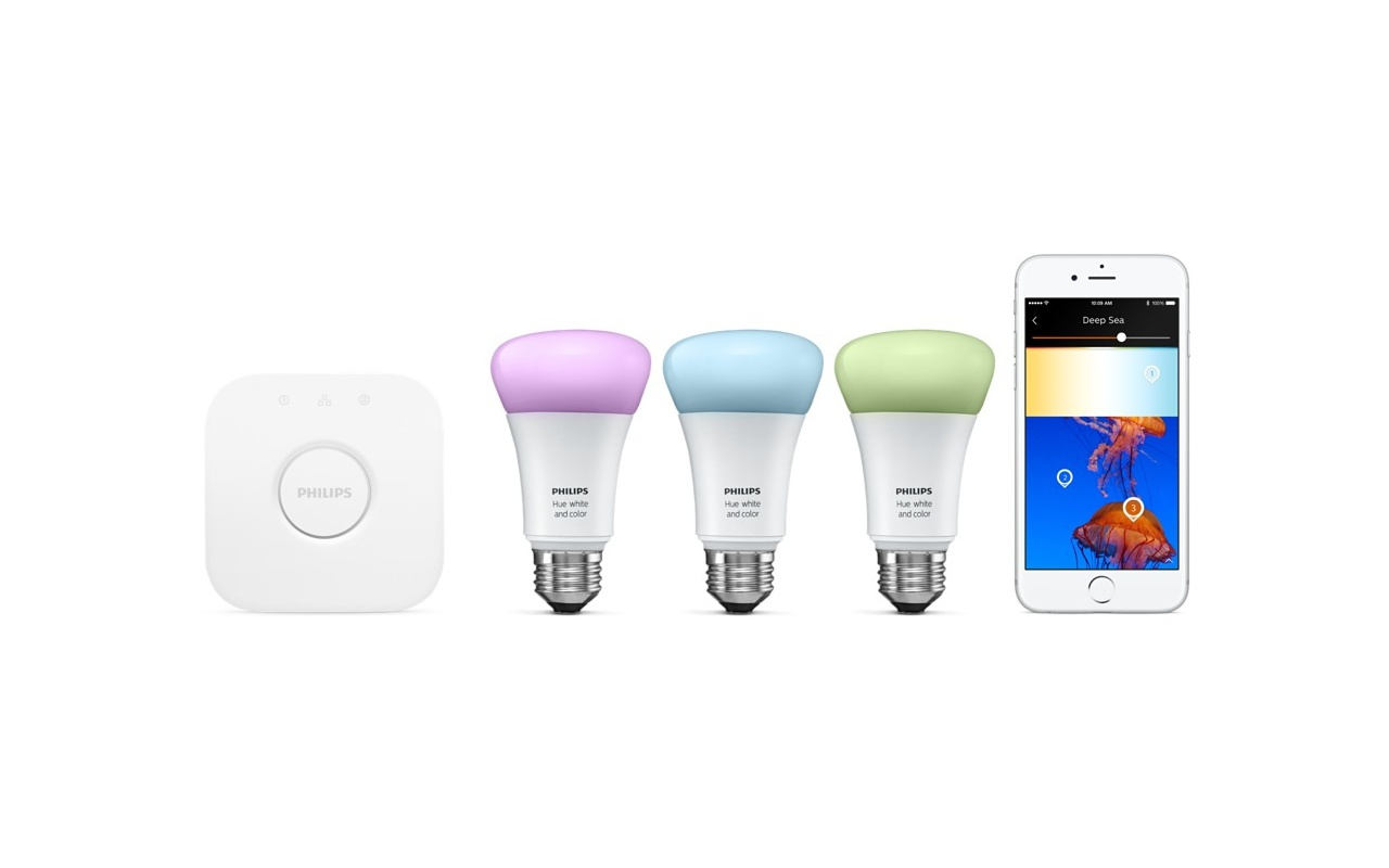 philips hue white and color starter pack e27 3 lampen met bridge 2 0 specificaties tweakers. Black Bedroom Furniture Sets. Home Design Ideas