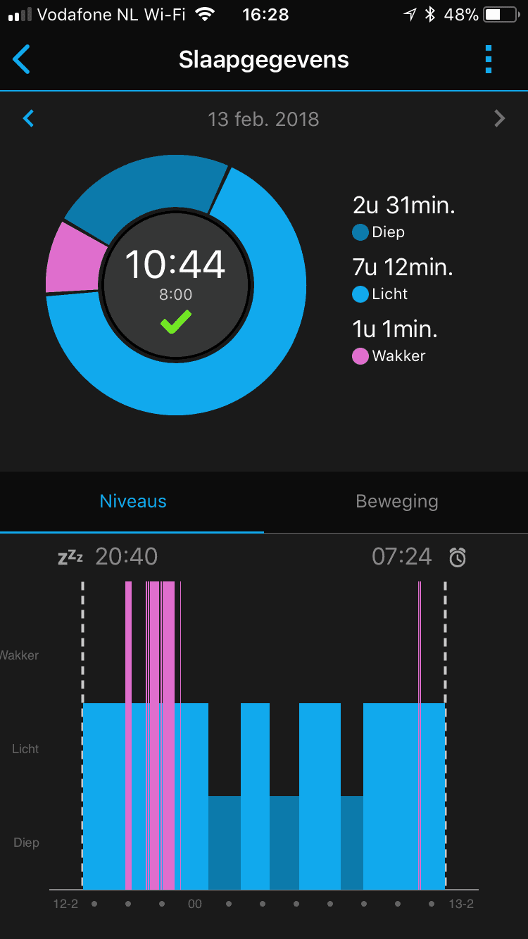 Garmin sleep tracking