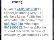 NL-Alerts maandag 24 juni 2019