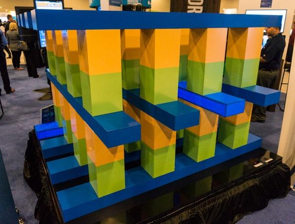 Visualisatie 3D Xpoint-geheugen