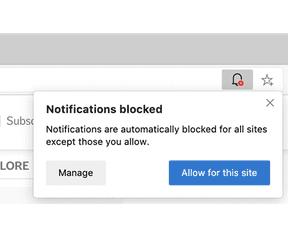 Edge notificaties blokkeren
