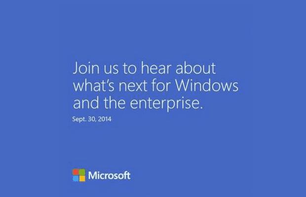 Microsoft-evenement Windows 9