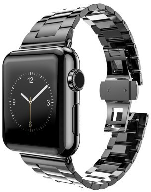 hoco Slimfit Steel Watchband voor Apple Watch (42mm) - 3 schakels - Dark Grey