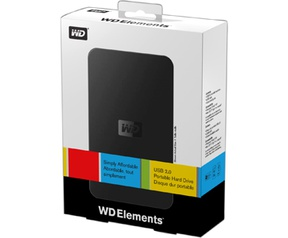 Western Digital Elements Portable 500GB Zwart