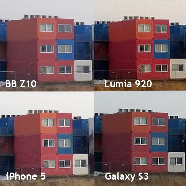 BlackBerry Z10 vs Lumia 920, iPhone 5 en Galaxy S3