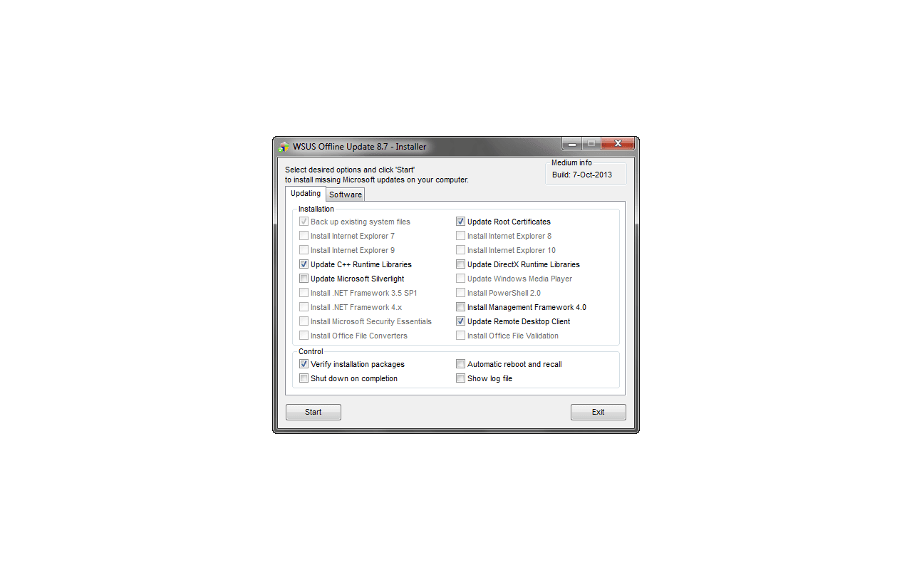 WSUS Offline Update 8.7