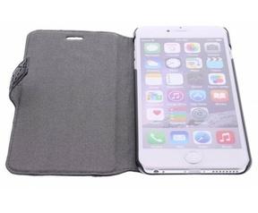 Guess Originele Scarlett Folio Bookcase hoesje voor de iPhone 6 Plus - Zwart Zwart