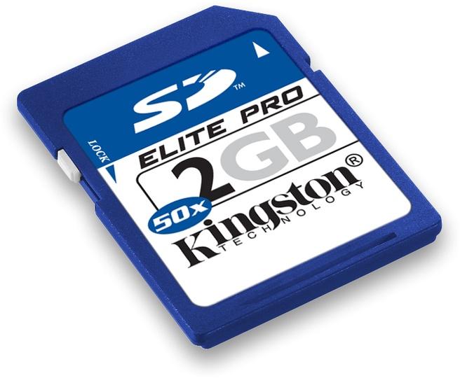 Kingston 2GB Elite Pro SD Card 50x