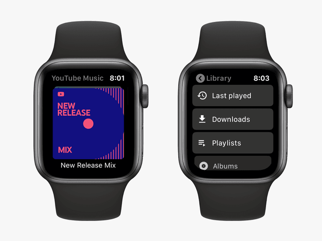 YouTube Music op Apple Watch