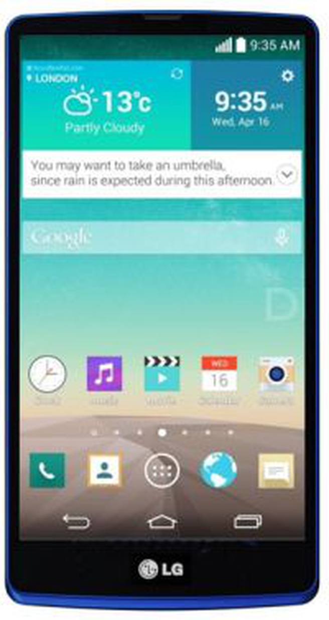 Mockup: LG Isai-smartphone met screenshot G3