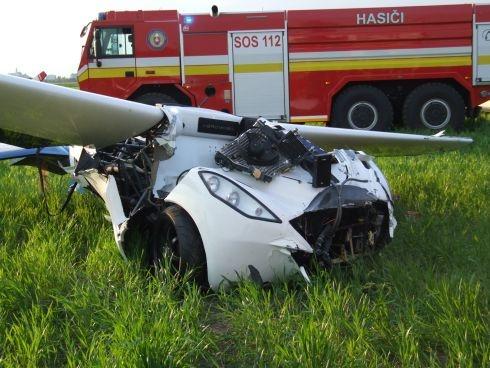 Vliegende auto 'Aeromobil' crasht