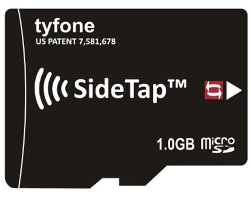 Tyfone SideTap,  microsd-kaart met nfc